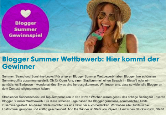 OTTO BLOGGER SUMMER WETTBEWERB: AND THE WINNER IS… :-D