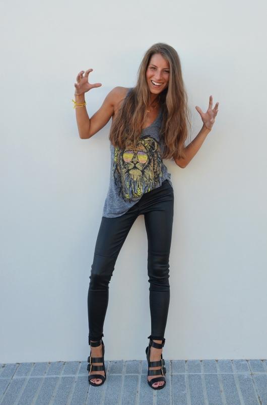 Lauren Moshi, Rasta Lion, Tank Top , Zara , Lederhose 3