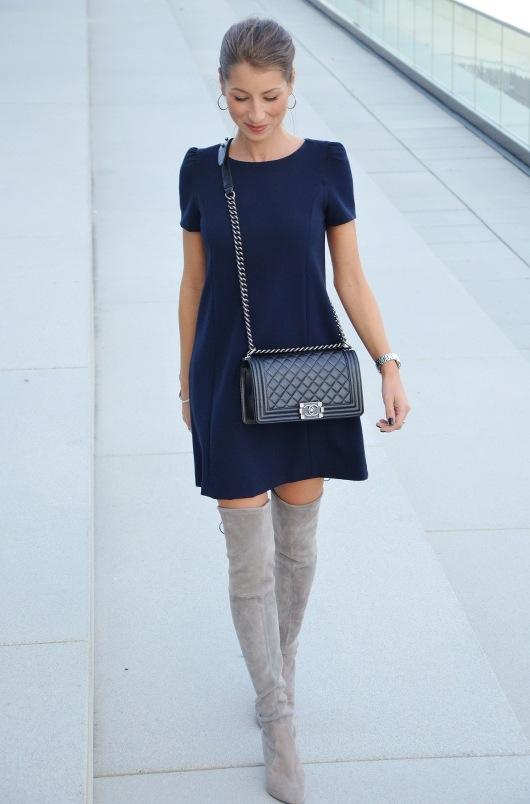 overknees grey stuart weitzman outfit