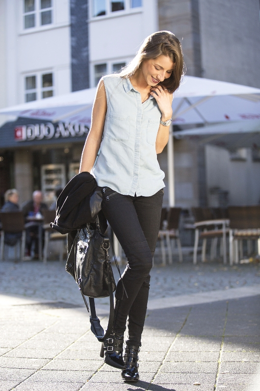 jeanshemd outfit