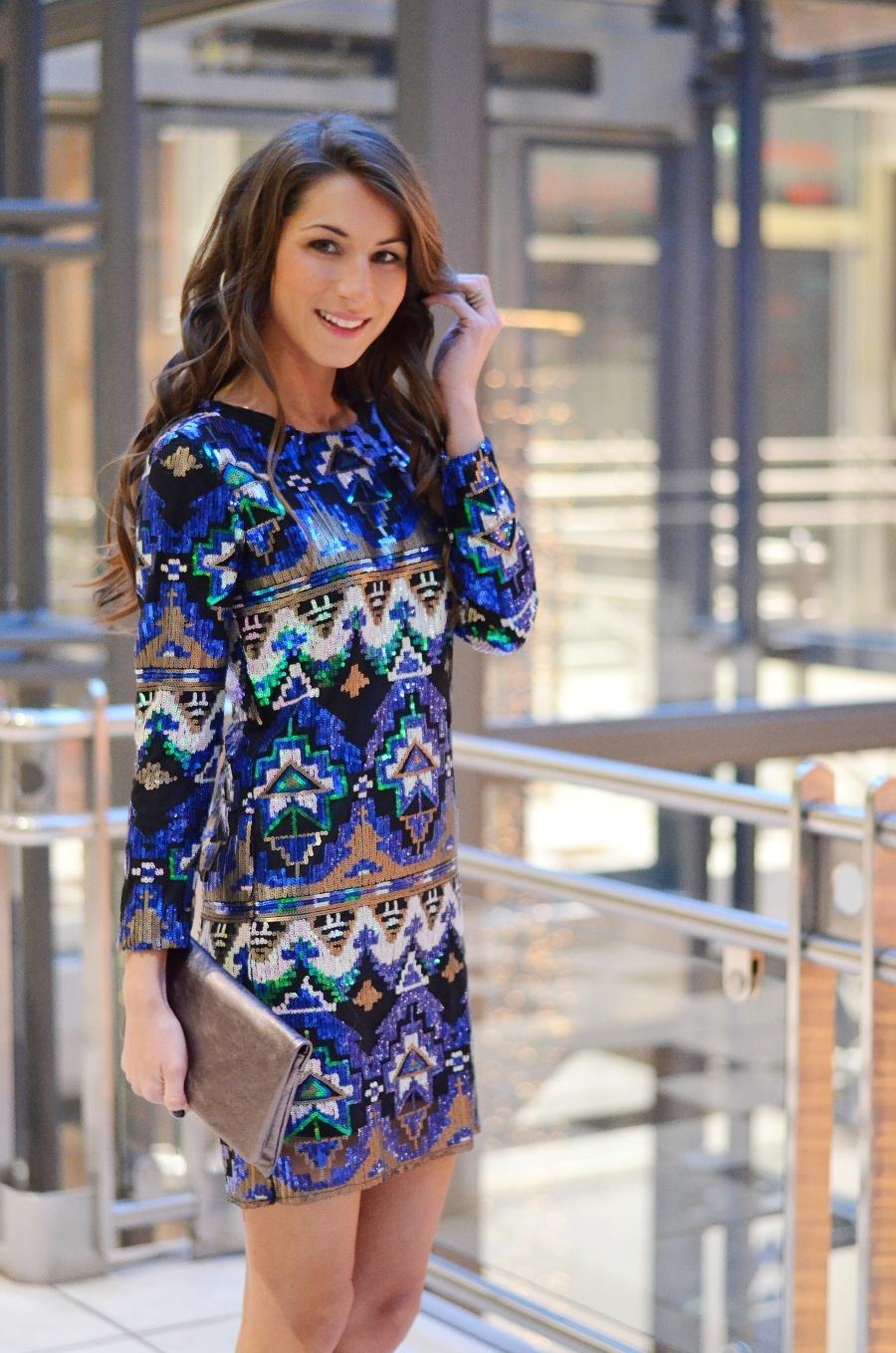 silvester look, Pailletten , kleid , sequins , dress , Zara , outfit
