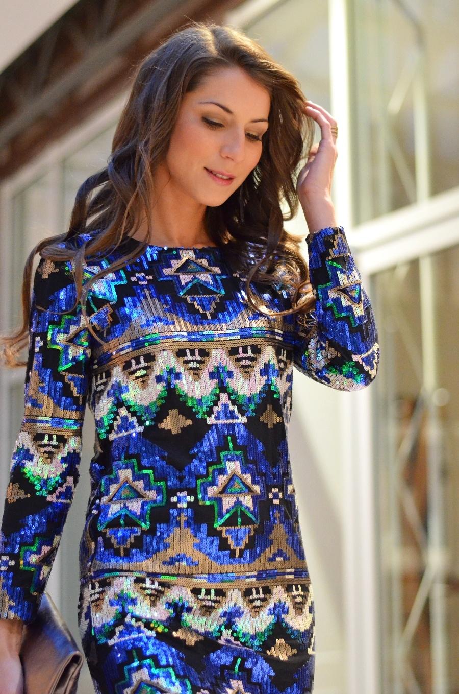 Silvester Look , Kleid , Dress , Pailetten , Zara , sequins
