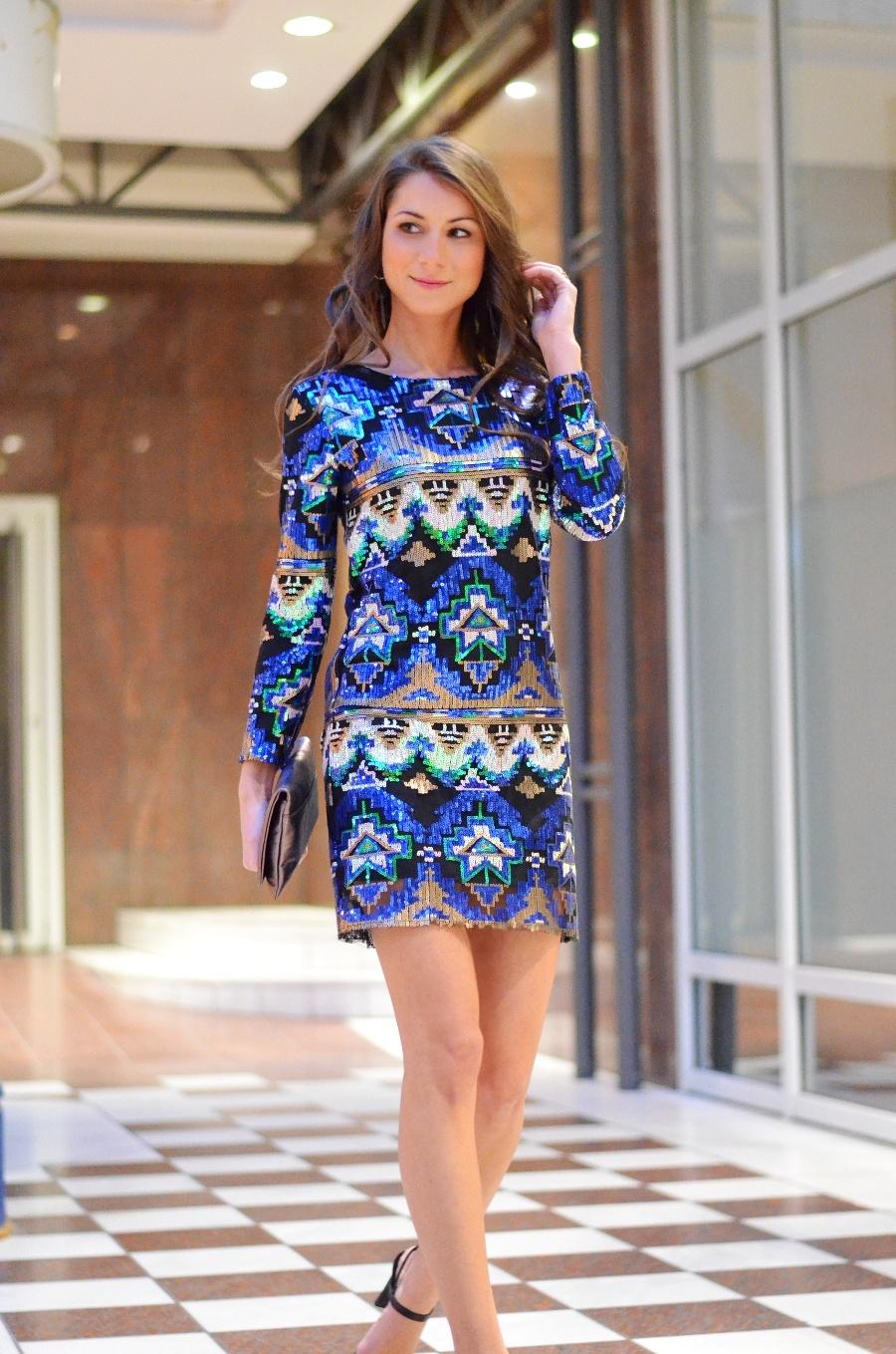 Silvester Look , Pailletten Kleid von Zara