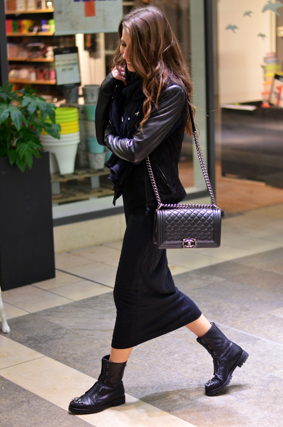 all black outfit maxi dress