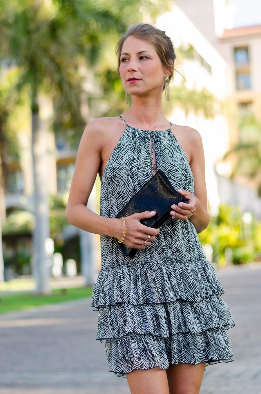 zara dress elegant summer outfit fashion blog