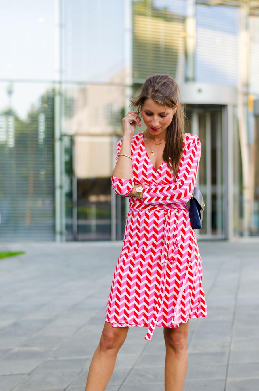 wickelkleid a la fürstenberg outfit