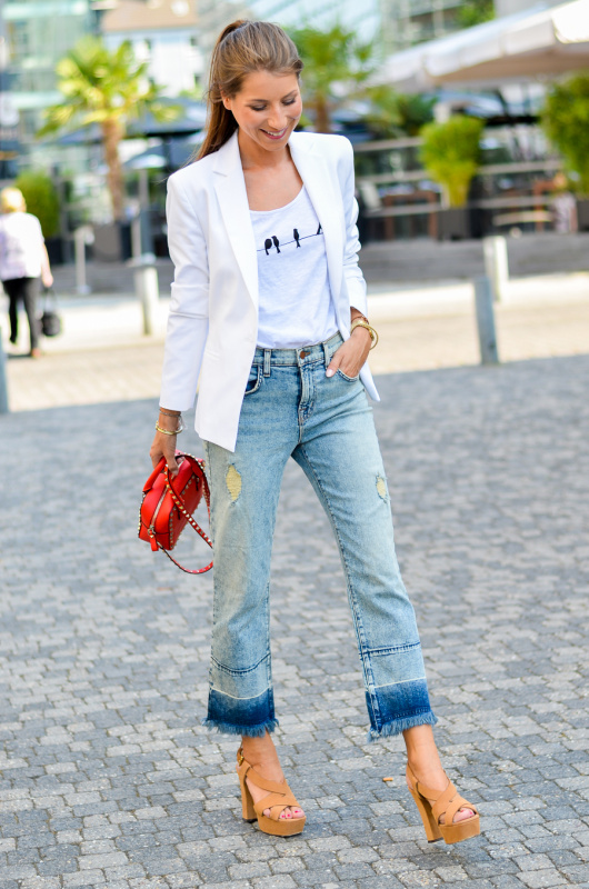 OUTFIT: CROPPED FLARE JEANS