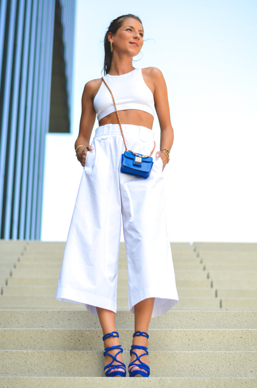 OUTFIT: IN MY WHITE CULOTTES
