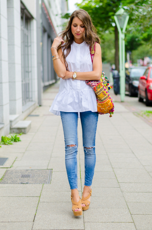 OUTFIT: WHITE SUMMER BLOUSE