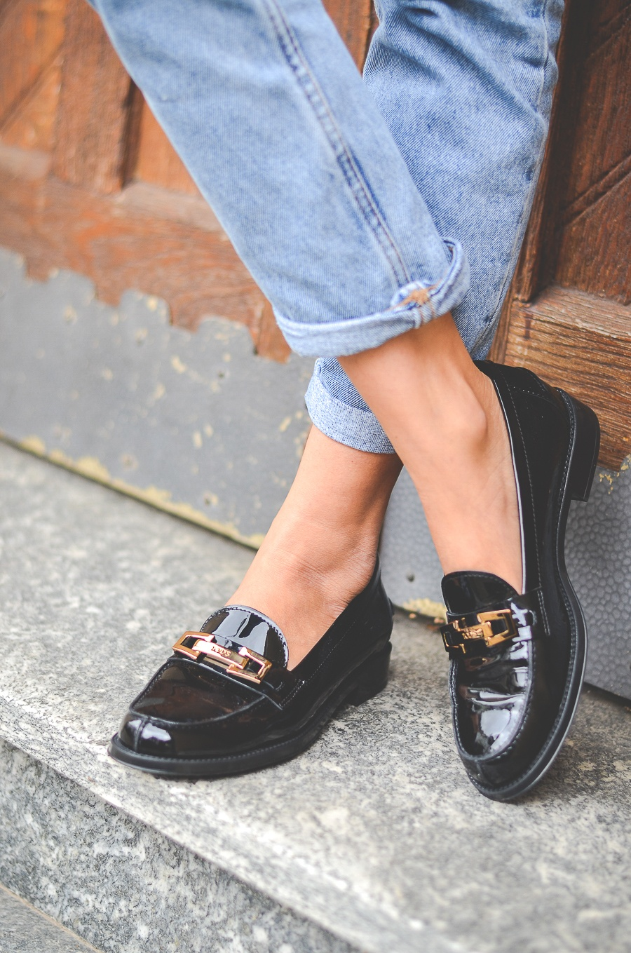 loafers patent leather tod's
