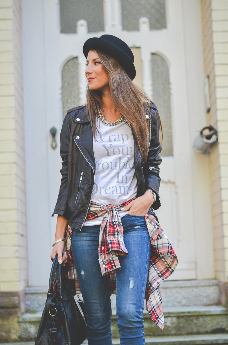OTTO_Casual_Outfit_Lederjacke_Jeans_Boots_Hut_Shirt 10