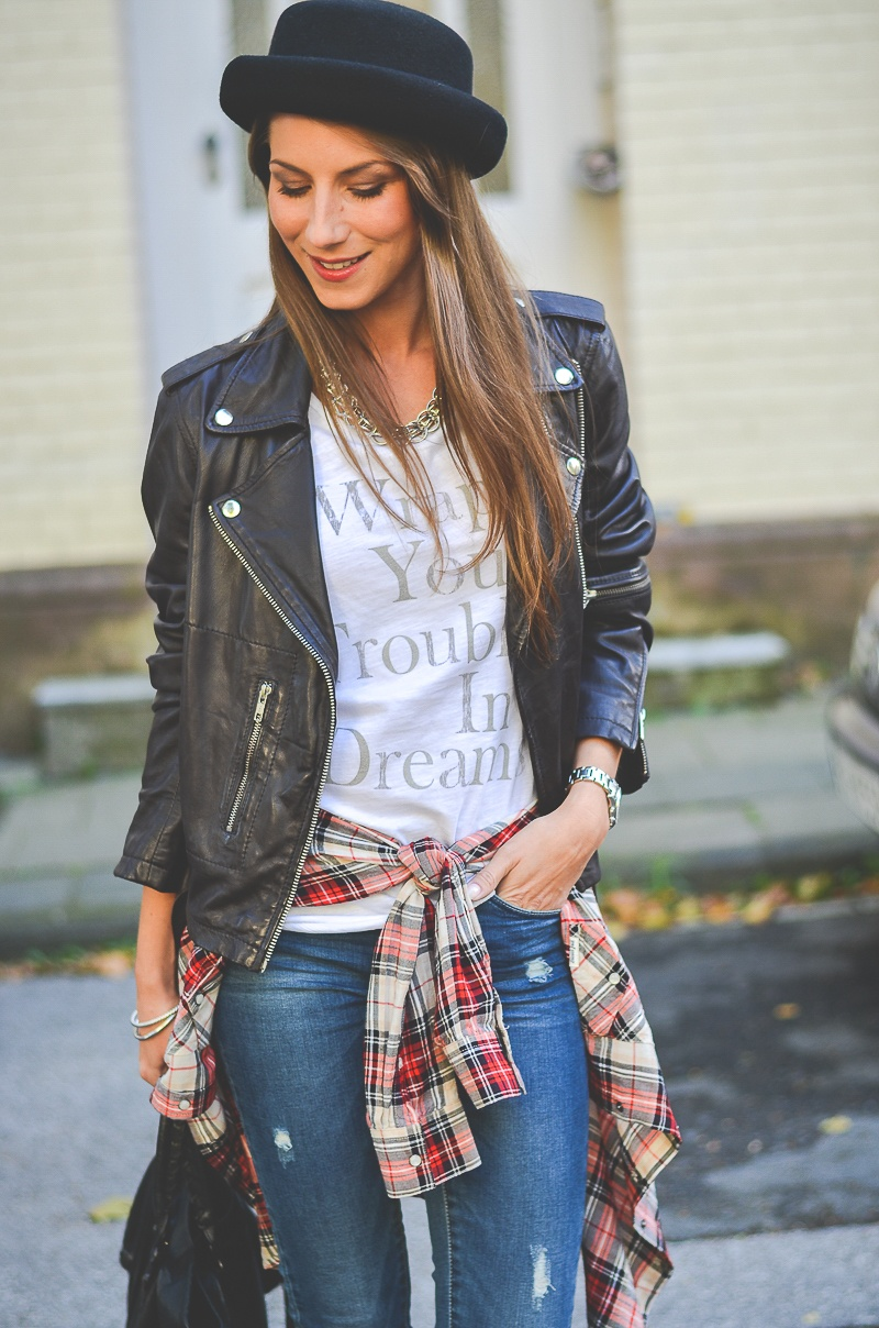 OTTO_Casual_Outfit_Lederjacke_Jeans_Boots_Hut_Shirt 8