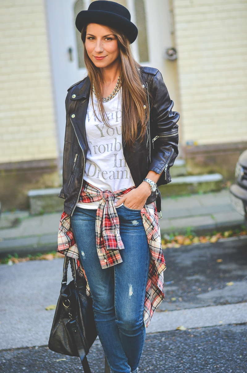 OTTO_Casual_Outfit_Lederjacke_Jeans_Boots_Hut_Shirt 9