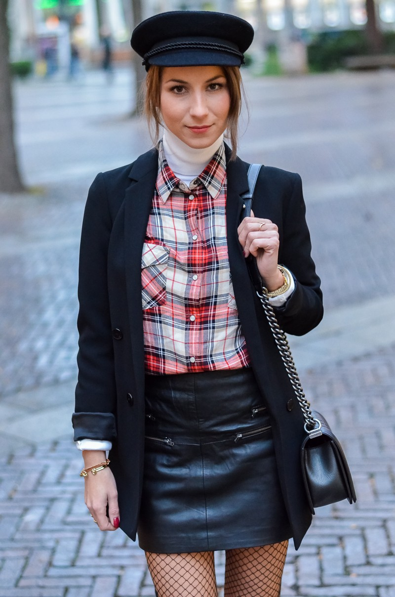 Outfit Netzstrumpfhose kombinieren 9