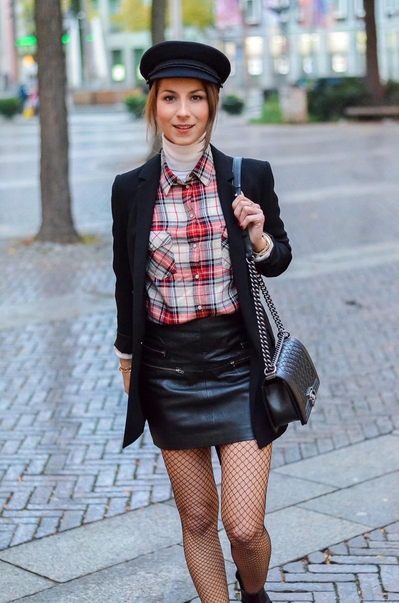 Outfit Netzstrumpfhose kombinieren 6