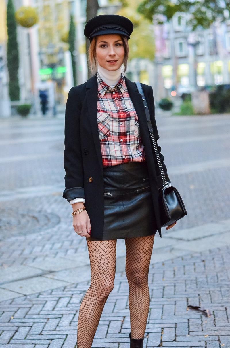 Outfit Netzstrumpfhose kombinieren 3