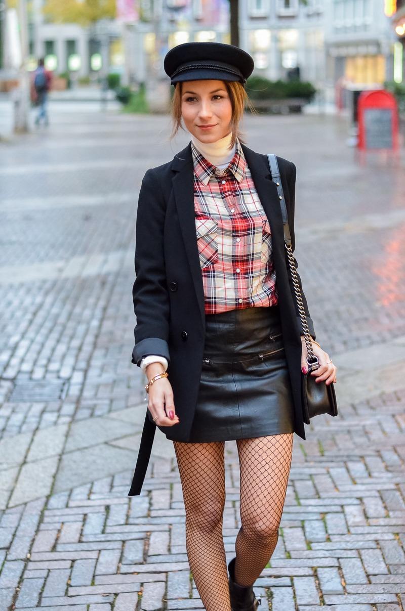 Outfit Netzstrumpfhose kombinieren 12