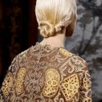 Festtagsfrisuren kordeln frisur Valentino runway