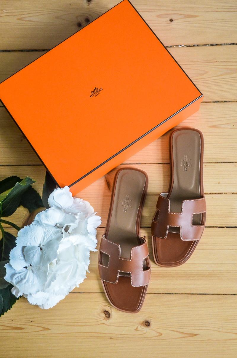 hermes , oran , sandals , gold