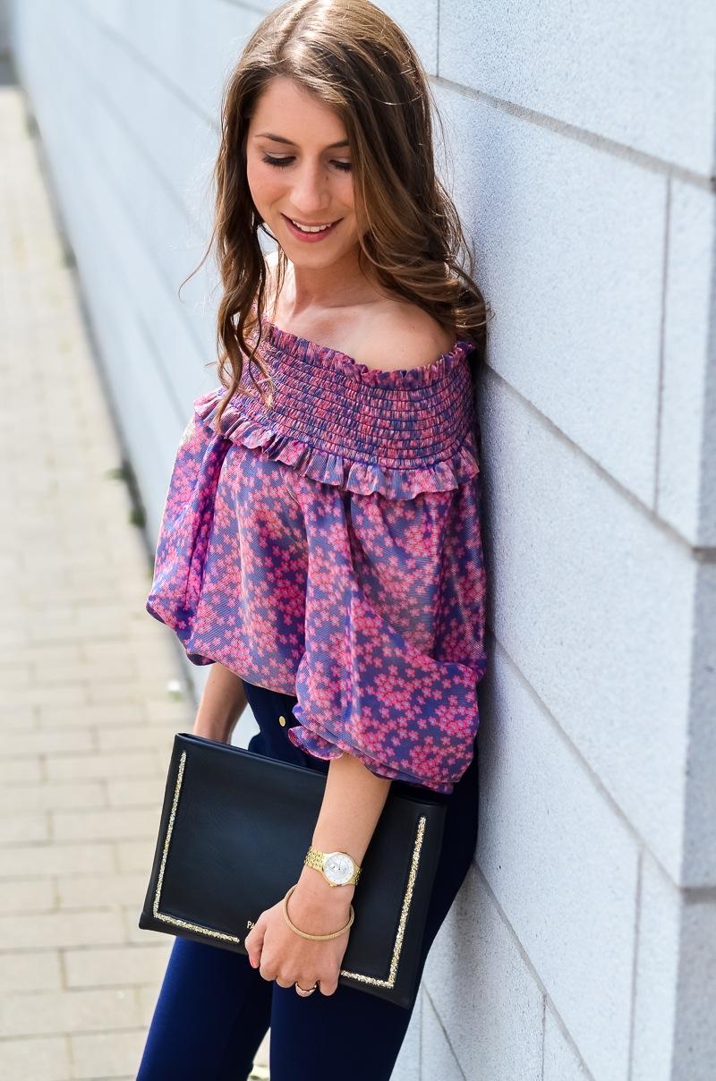 manoush , off shoulder , bluse , sommer , sandalen , patrizia pepe , leggings 5
