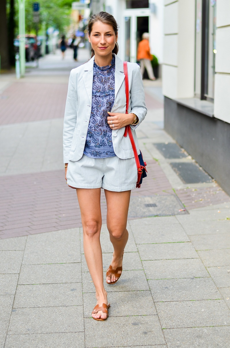 outfit , fashion , blog , hosenanzug , kurz , damen , sommer , vanessa bruno , athe , suit , hermes , paris , oran , sandals , gold , 7