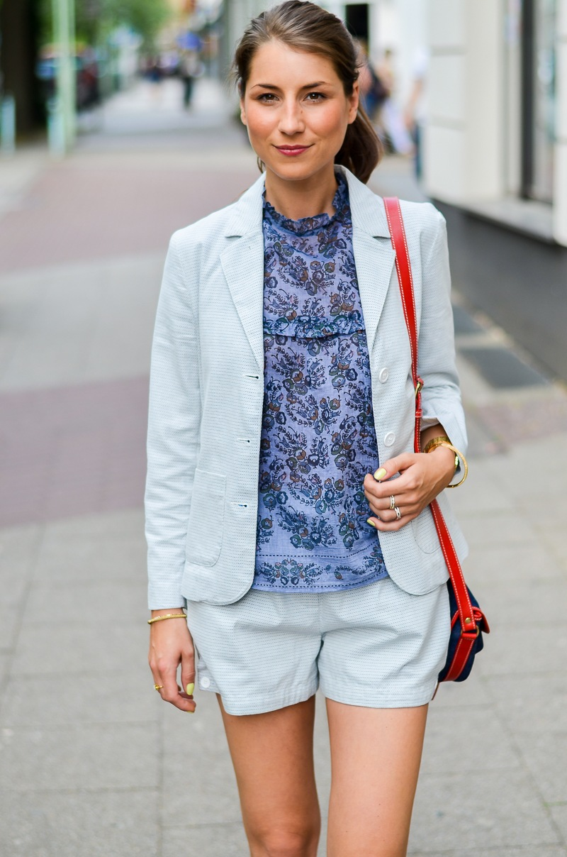outfit , fashion , blog , hosenanzug , kurz , damen , sommer , vanessa bruno , athe , suit , hermes , paris , oran , sandals , gold , 5