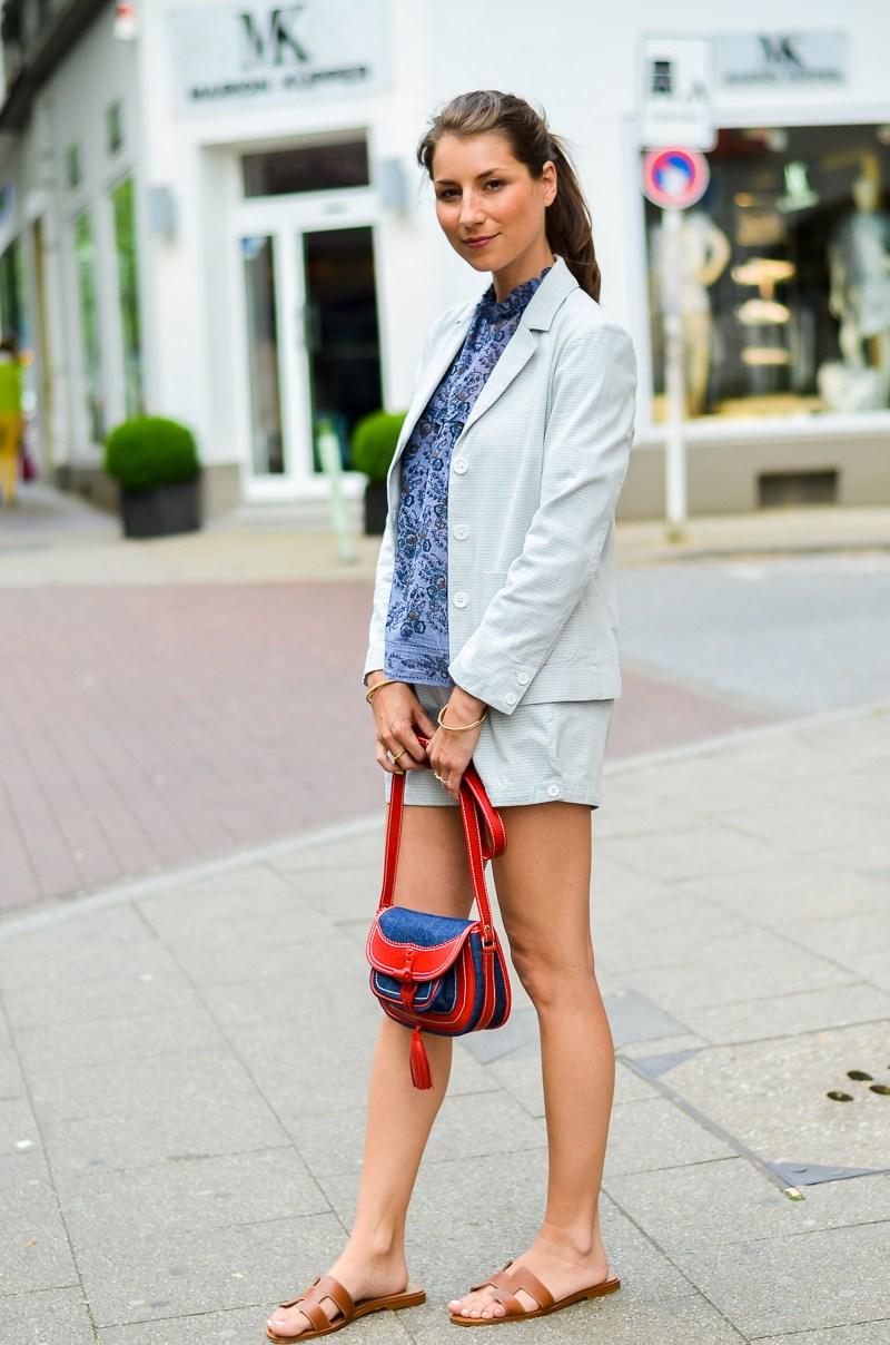outfit , fashion , blog , hosenanzug , kurz , damen , sommer , vanessa bruno , athe , suit , hermes , paris , oran , sandals , gold , 3