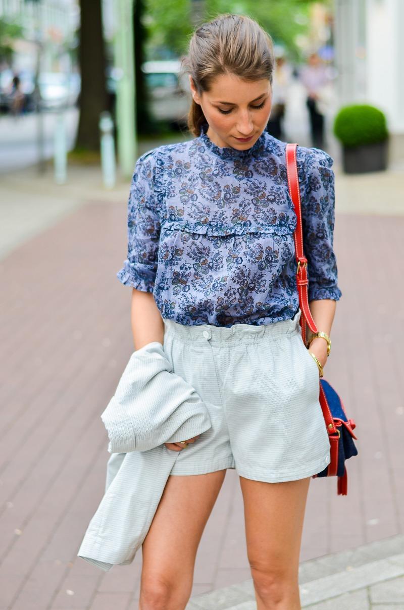 outfit , fashion , blog , hosenanzug , kurz , damen , sommer , vanessa bruno , athe , suit , hermes , paris , oran , sandals , gold 1