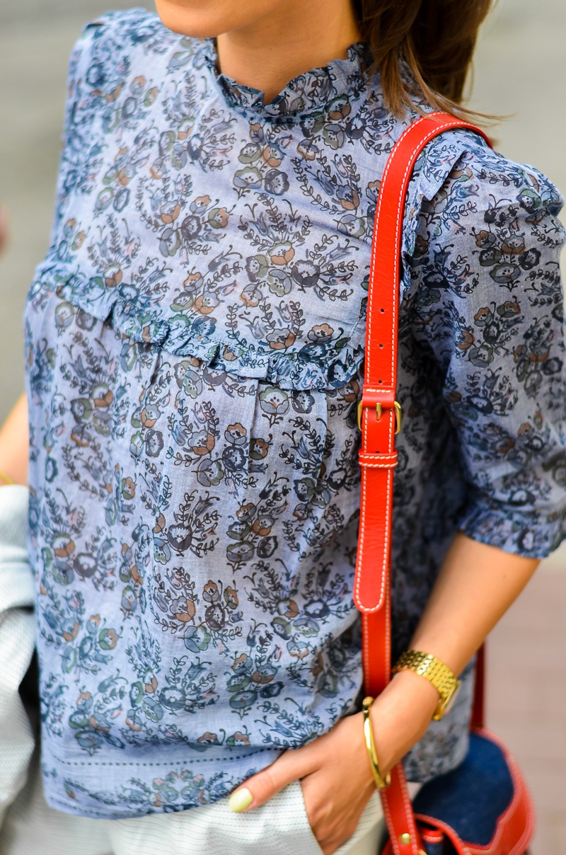 Bluse , vanessa bruno , floral , blouse , shirt , athe , bag , tasche ,