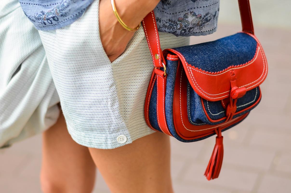 Outfit , Vanessa , Bruno , Athe , Blazer , Shorts , Bluse , Tasche , Hermes , Oran , Sandalen