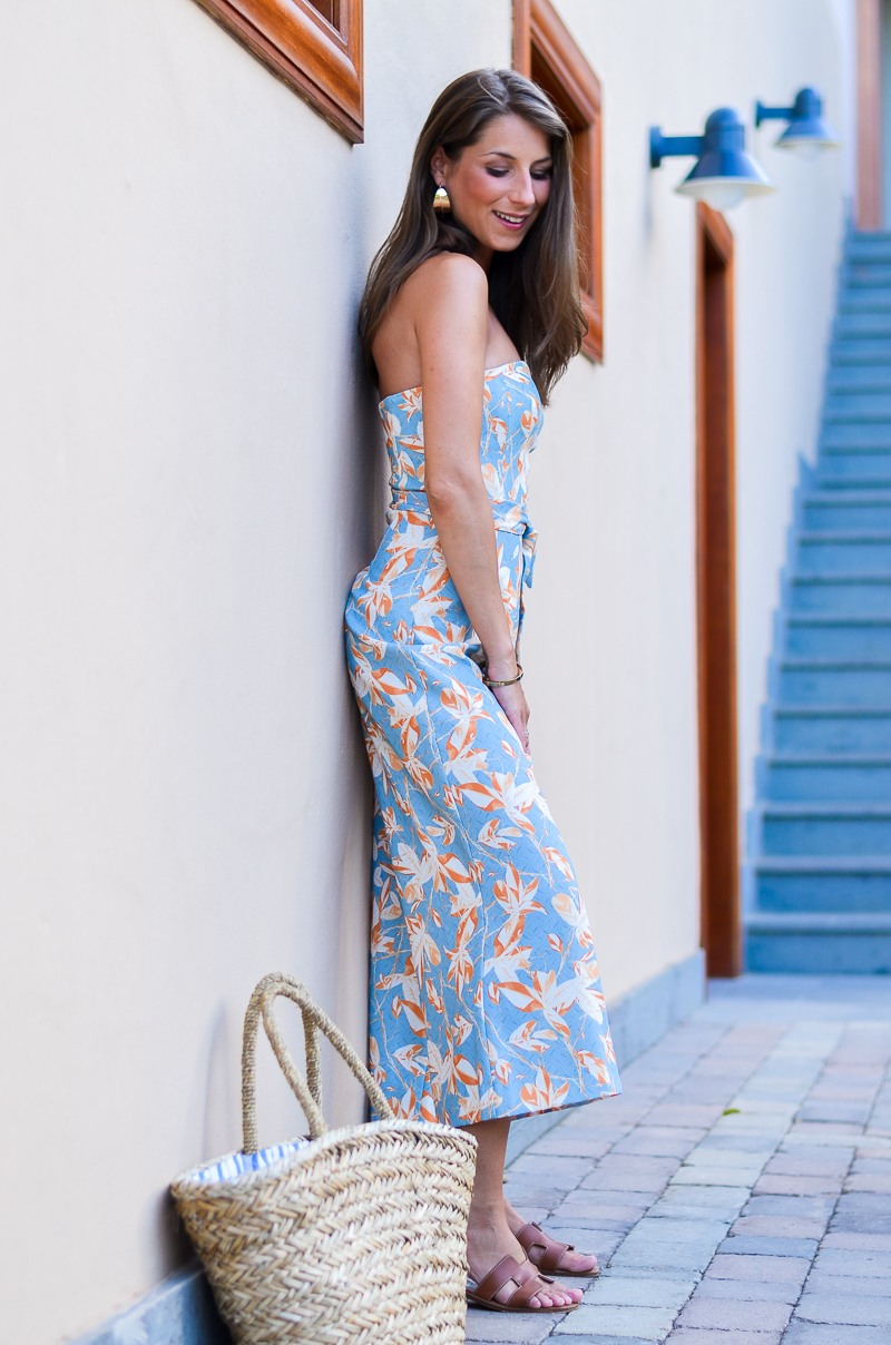 culotte jumpsuit hm sommer hermes oran sandalen outfit