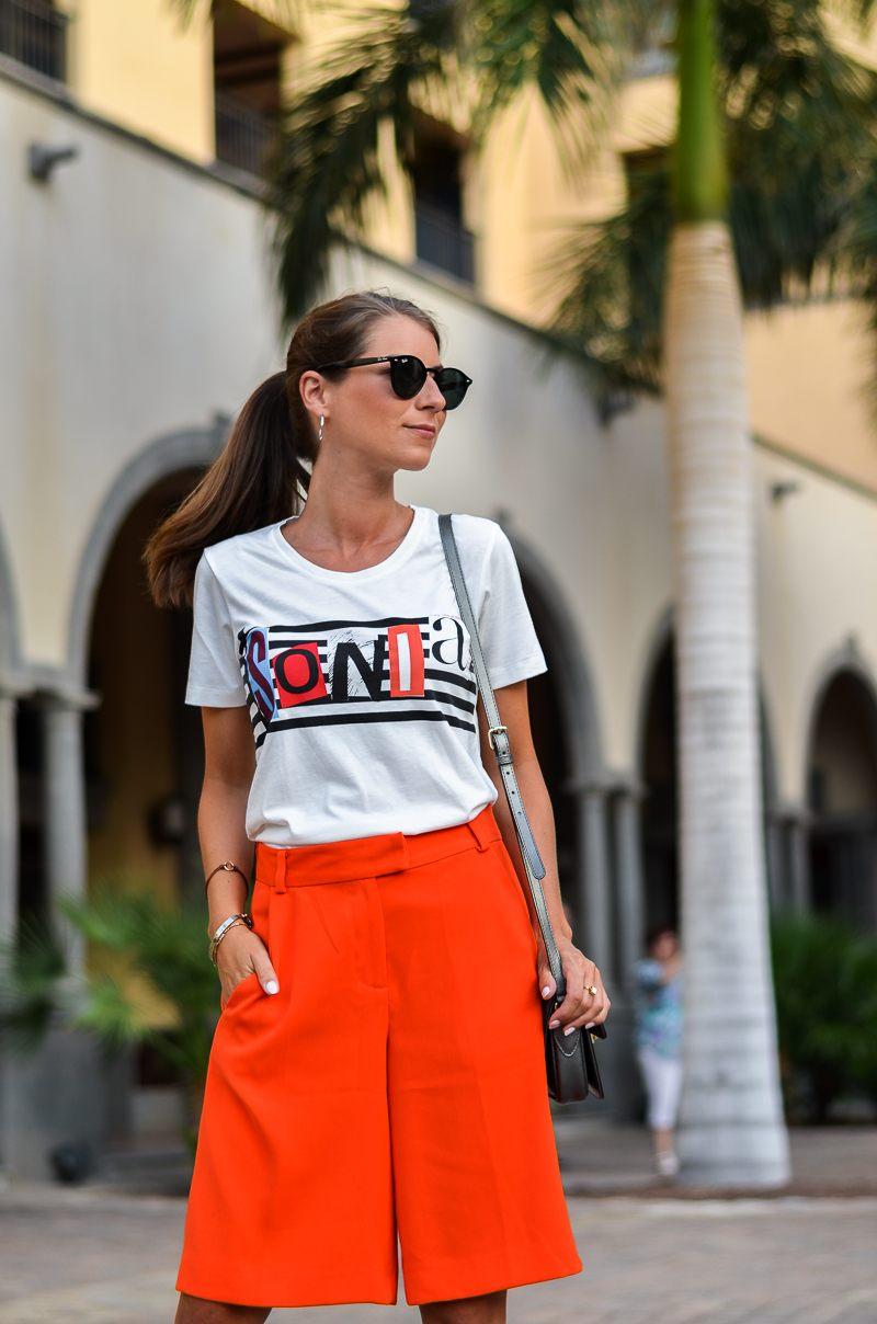 bermuda shorts outfit leo pumps kombinieren