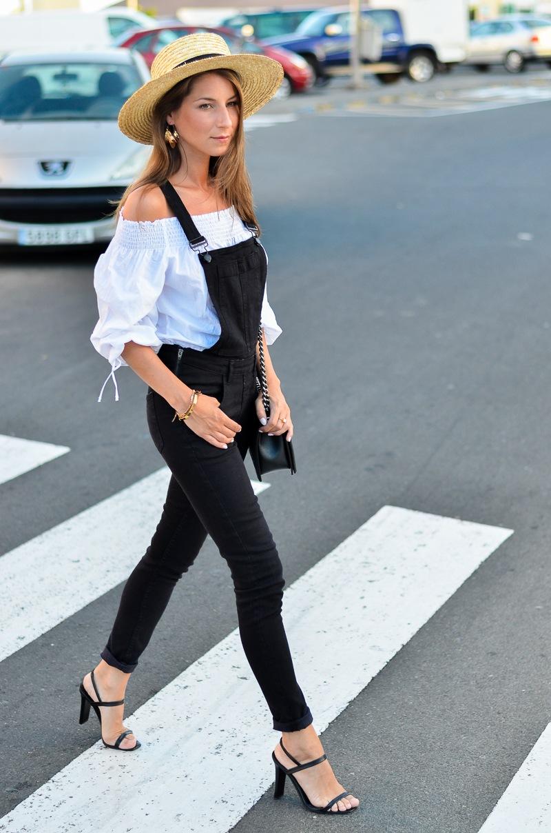 Street Style :: Latzhose & Off Shoulder Bluse