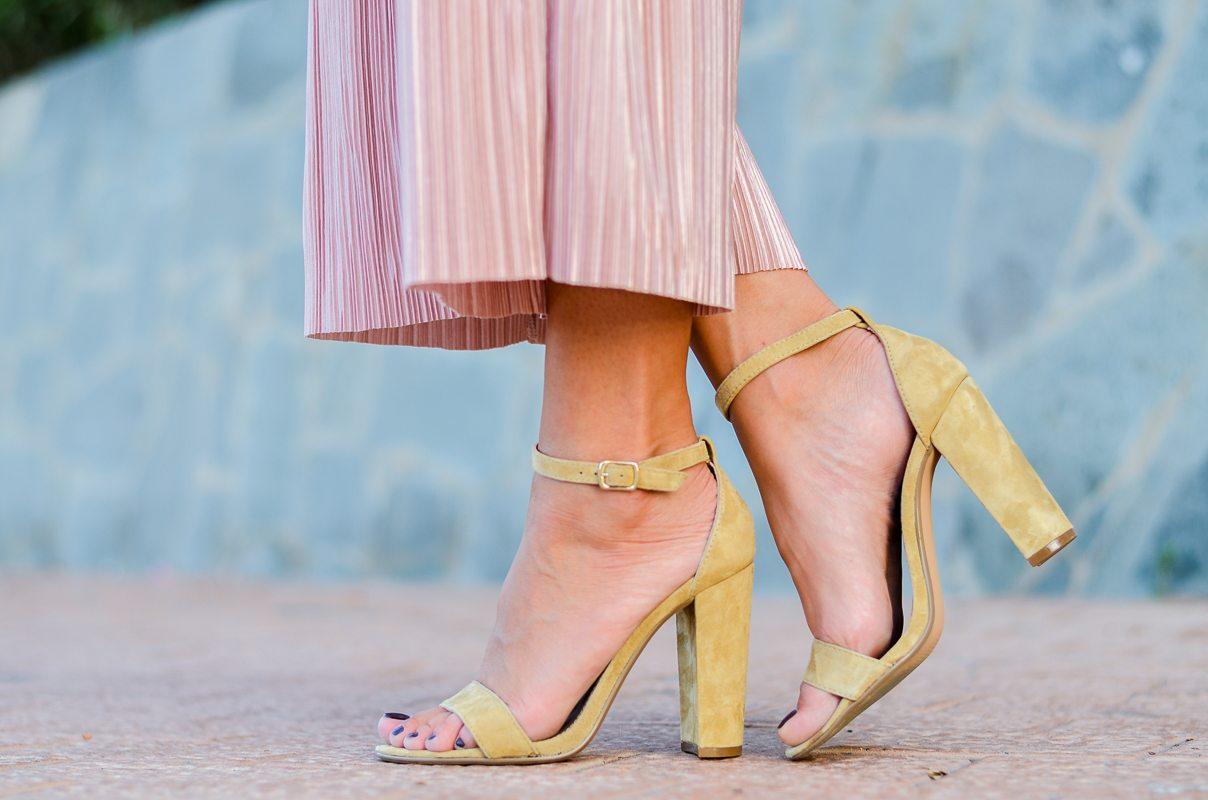 plissee culottes steve madden heels