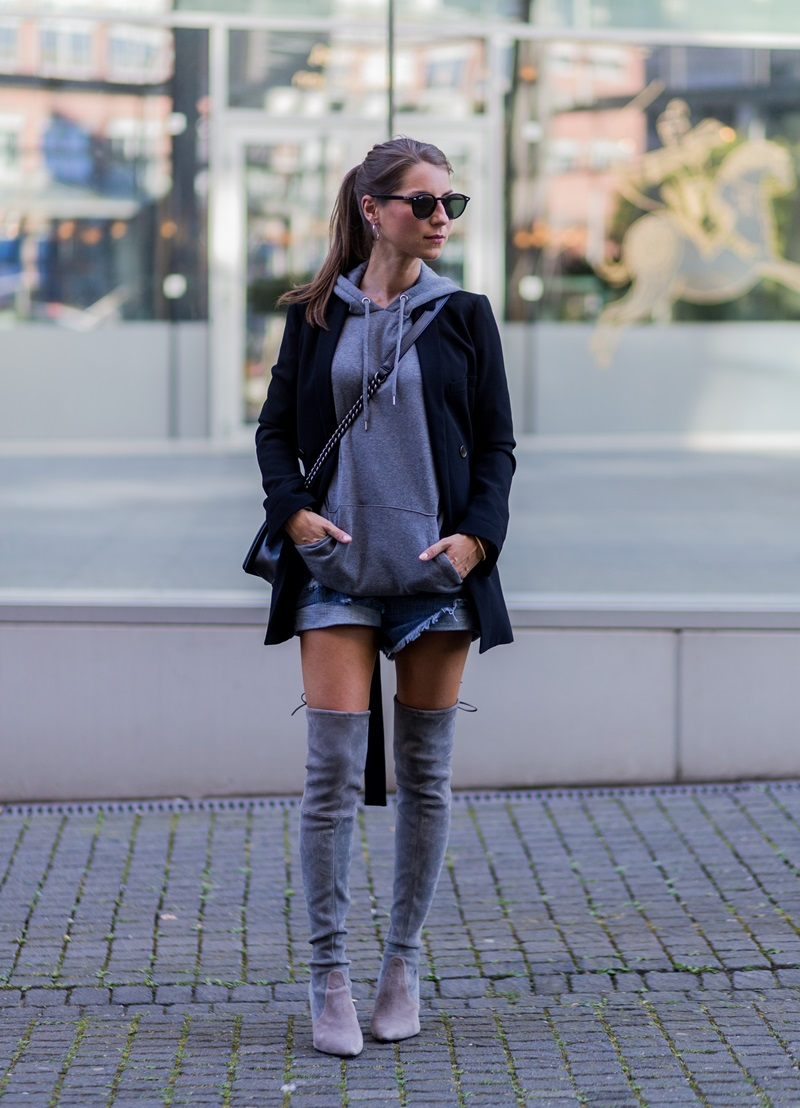 hoodie overknees outfit styleograph