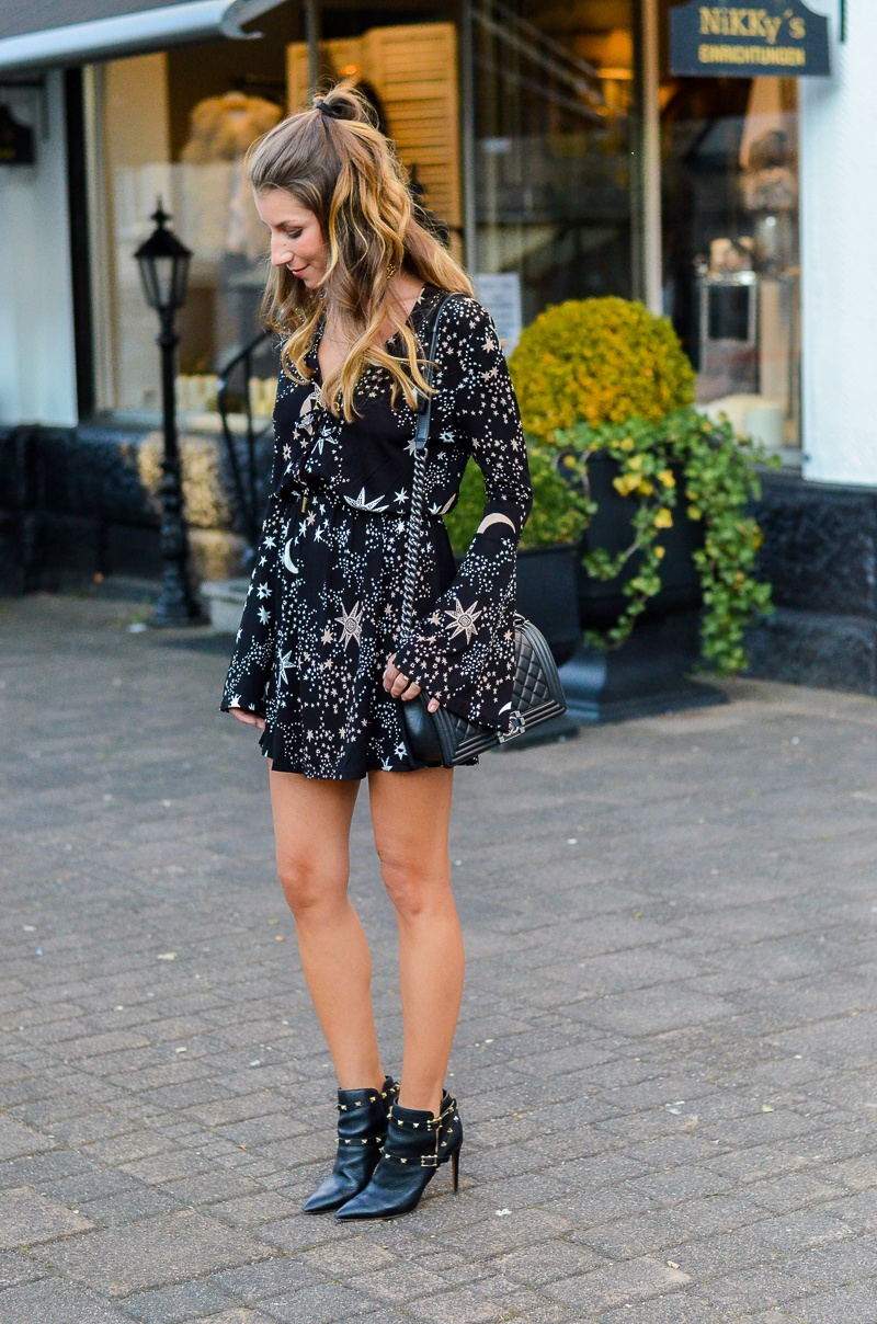 ivyrevel dress valentino rockstud ankle boots