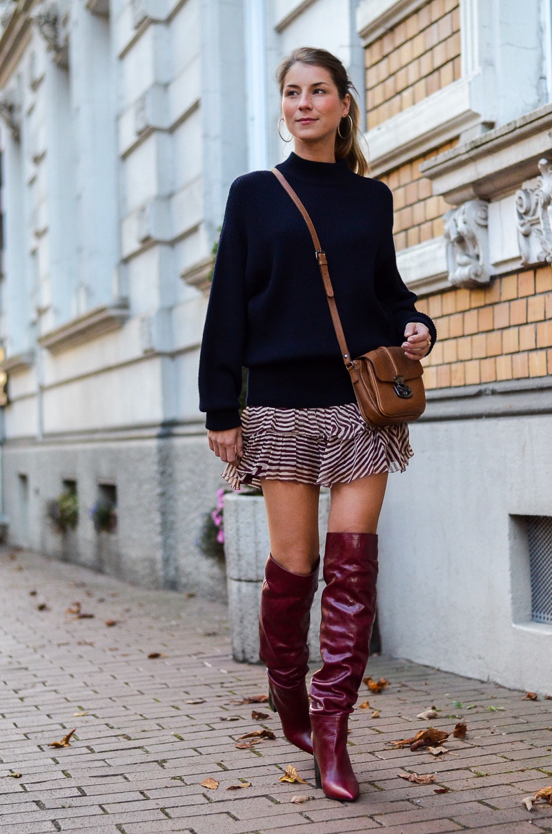 oversized pullover isabel marant rock Zara boots outfit herbst