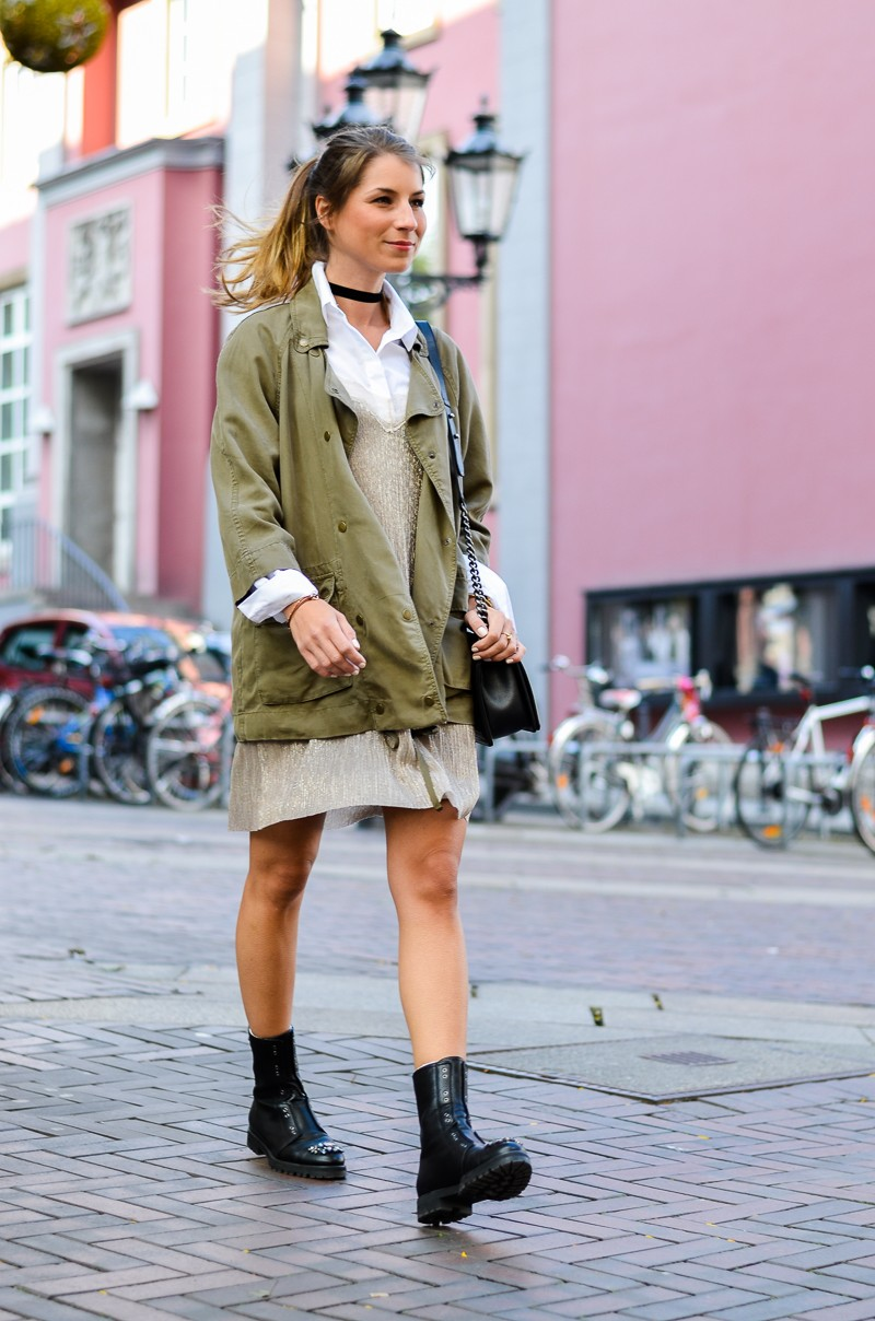 Kontraste :: Zara Slip Dress im Military Style