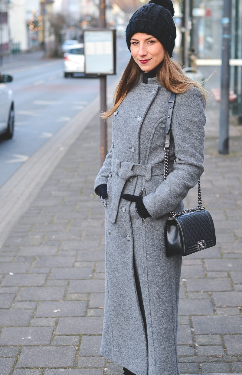 outfit maxi coat stefanel winter