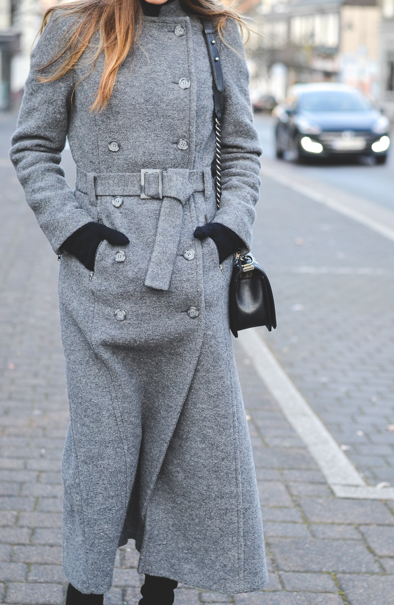 outfit maxi coat stefanel winter