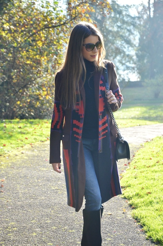 Outfit :: Golden November – Etro Coat & Chanel Boy Bag