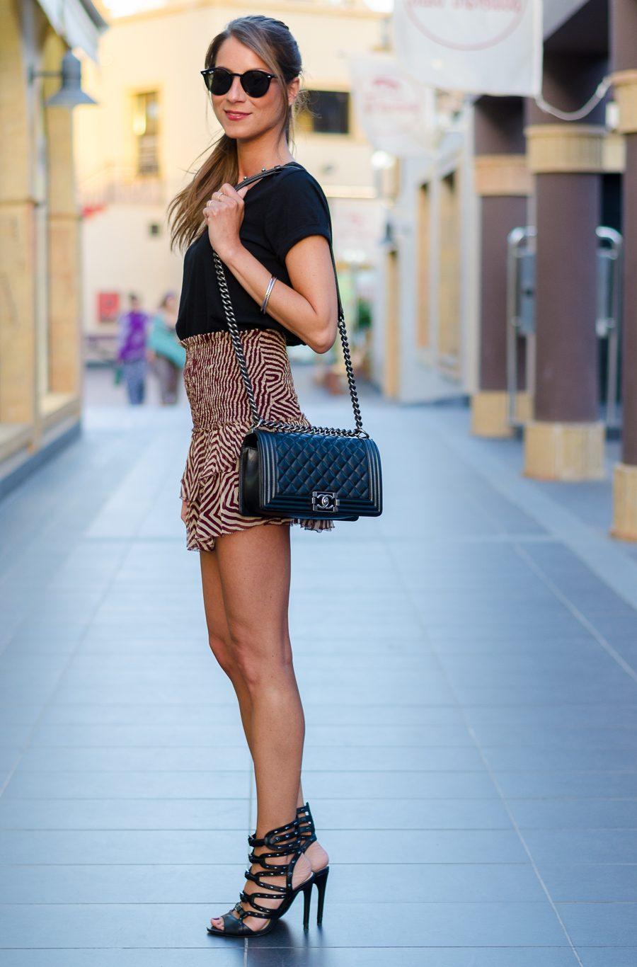 Summer Outfit :: Isabel Marant Étoile silk skirt & Chanel Boy Bag