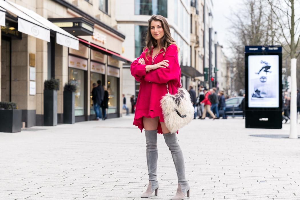 pink oversize pullover overknees v j du modeblog aus deutschland fashion blog from germany. Black Bedroom Furniture Sets. Home Design Ideas