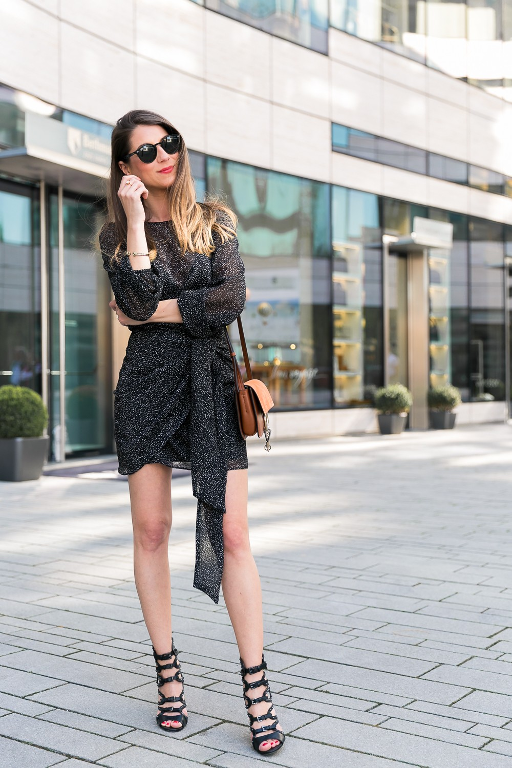 Dress with Dots & Chloé Faye Bag