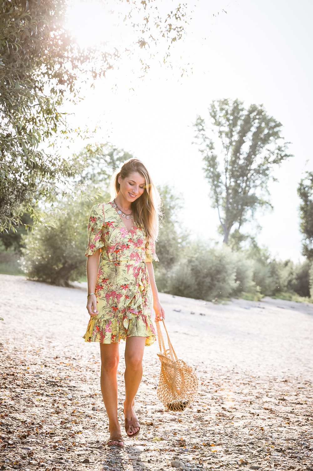 La Dolce Vita :: Yellow dress & my new beach bag