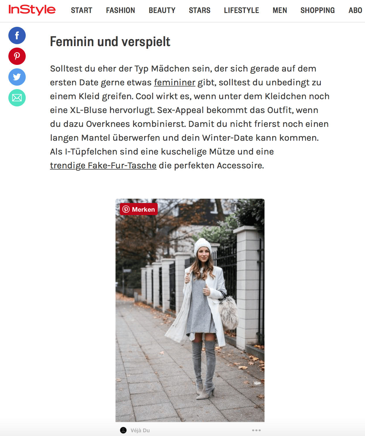 instyle outfit stephanie van klev press feature fashion blog veja du