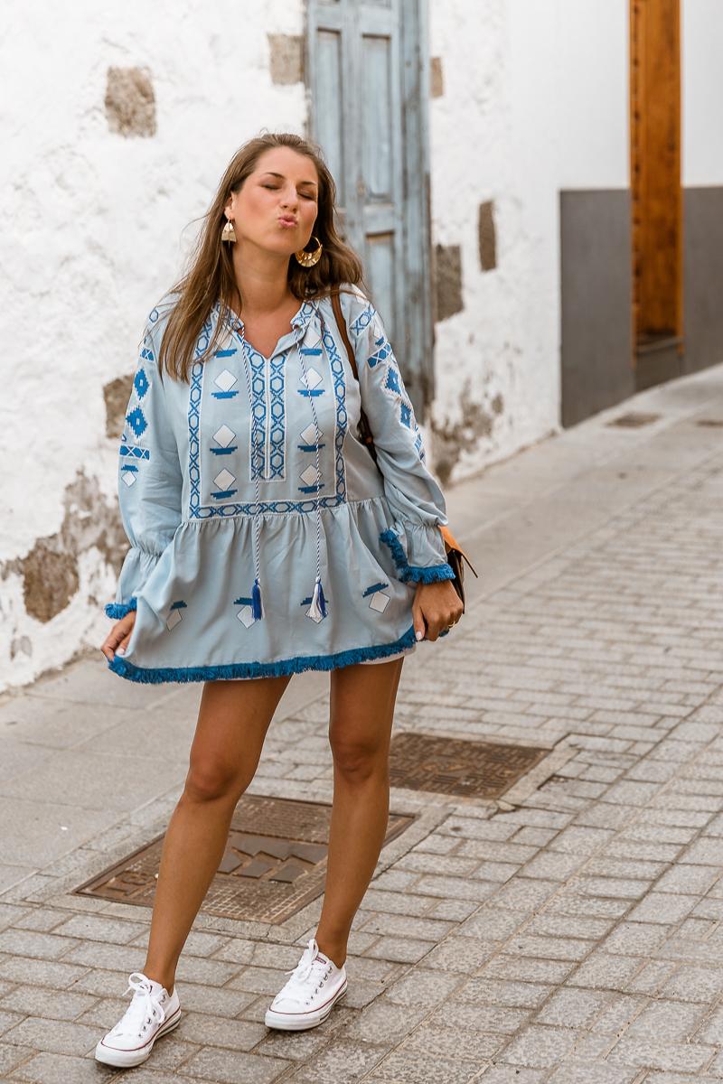 tunika blau sommer outfit inspiration schwanger blogger veja du agüimes gran canaria