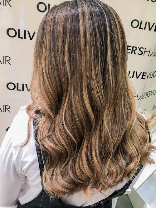 haare calligraphy cut balayage wellen friseur essen olivers hair blog highlights haare braun bruenett